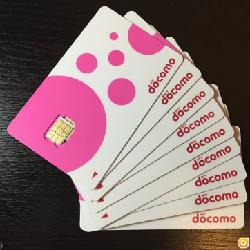 日本DOCOMO 4G 8天無限上網数据卡(新包裝)